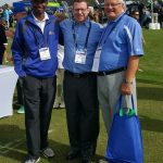With PGA Magazine buddies Tony Starks and Abe Summers at the PGA Merchandise Show's Demo Day.