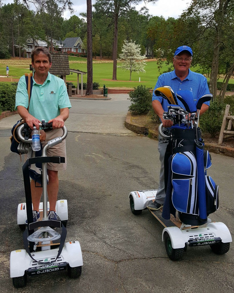 Noted North Carolina author Lee Pace, who has written about all things Pinehurst, joined me in getting an introduction to GolfBoards at Pine Needles.