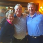 With USGA media staff leaders Janeen Driscoll and Pete Kowalski at Erin Hills.