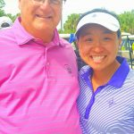 With Furman golfer Alice Chen after her win in the Central District Invitational.