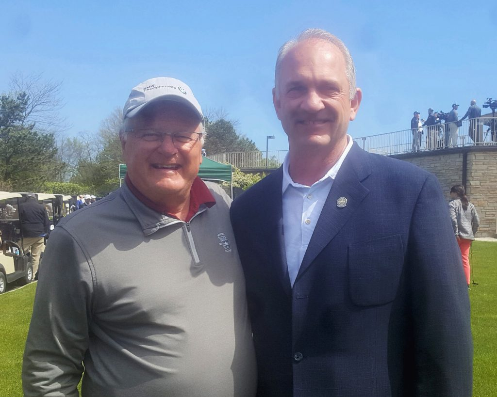 With Jim Sobb, fellow Palatine High alum, director of golf at Ivanhoe and now my golf-writing partner at the Daily Herald.
