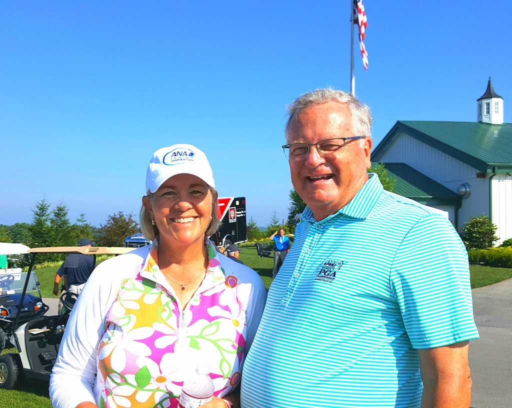 Getting ready for the first Senior LPGA Championship with Winnetka's Allison Finney.