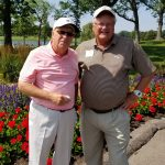 With Daily Herald publisher Doug Ray, a great friend to golf in the Chicago area.