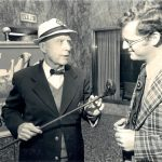 With the legendary Chick Evans in the early 1970s.