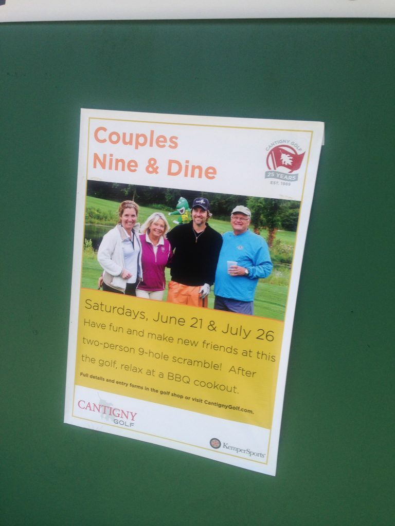 It's nice to be featured on a promotional billboard at Cantigny.