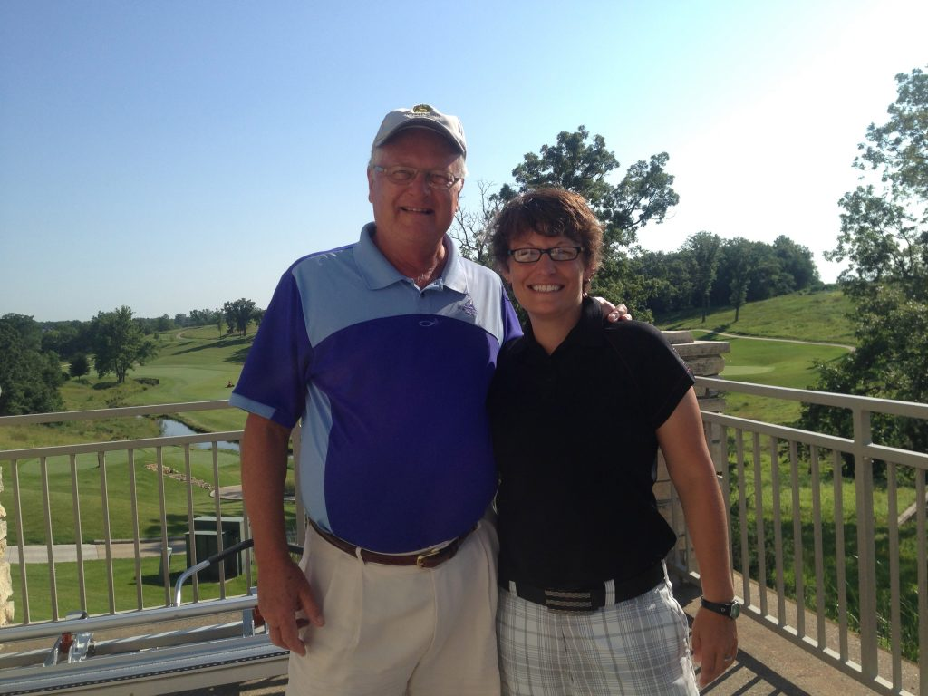 With Erin Strieck, former head pro at Eagle Ridge and Fyre Lake and now at Iowa's Spirit Hollow.