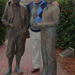 With my ``buddies'' -- Pinehurst creators Donald Ross (left) and Richard Tufts.