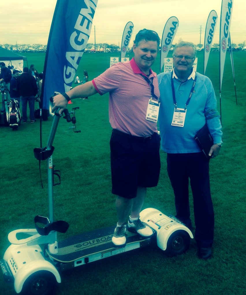 With Dave Weretka, publisher of Golf Chicago magazine.
