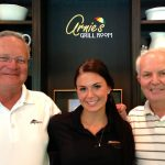 Joining general manager Bob Summers and one of his Manitou Passage staff members -- a former Miss North Dakota.