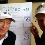 With Daily Herald publisher Doug Ray after a tournament we -- wrongly -- thought we had won.
