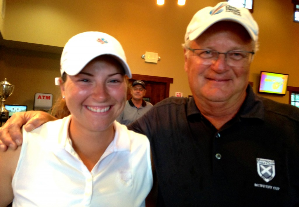 With (I predict) future LPGA star Ember Schuldt after IWO Pro-Am.