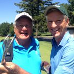 With course architect Dave Esler as he unveiled his re-design of Mount Prospect's course.