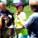 Interviewing youngest-ever Illinois Women's Open champion, 15-year old Madasyn Pettersen.