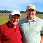 With Matt Allen, general manager of Chambers Bay.