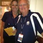 With Judith Coleman, long-time PGA Tour staffer.