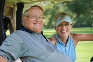 With  Cheryl Justak, publisher of Golf Now! Chicago.