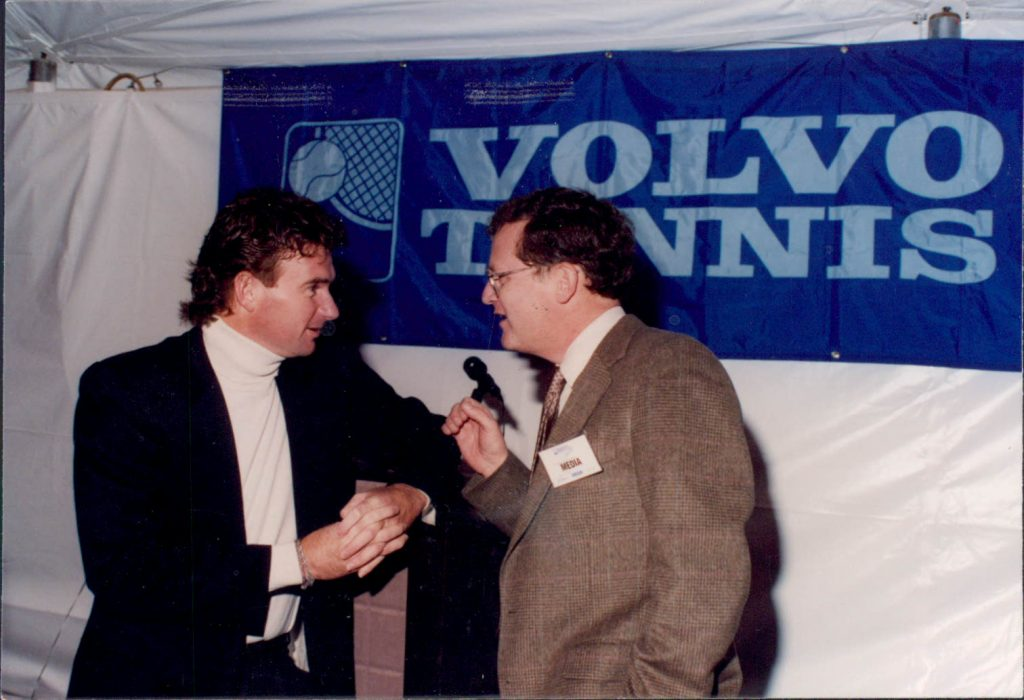 With tennis great Jimmy Connors in the 1990s.