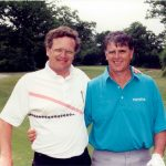 With Mike Hill, leading money-winner and co-player-of-the-year on the Champions Tour in 1991.