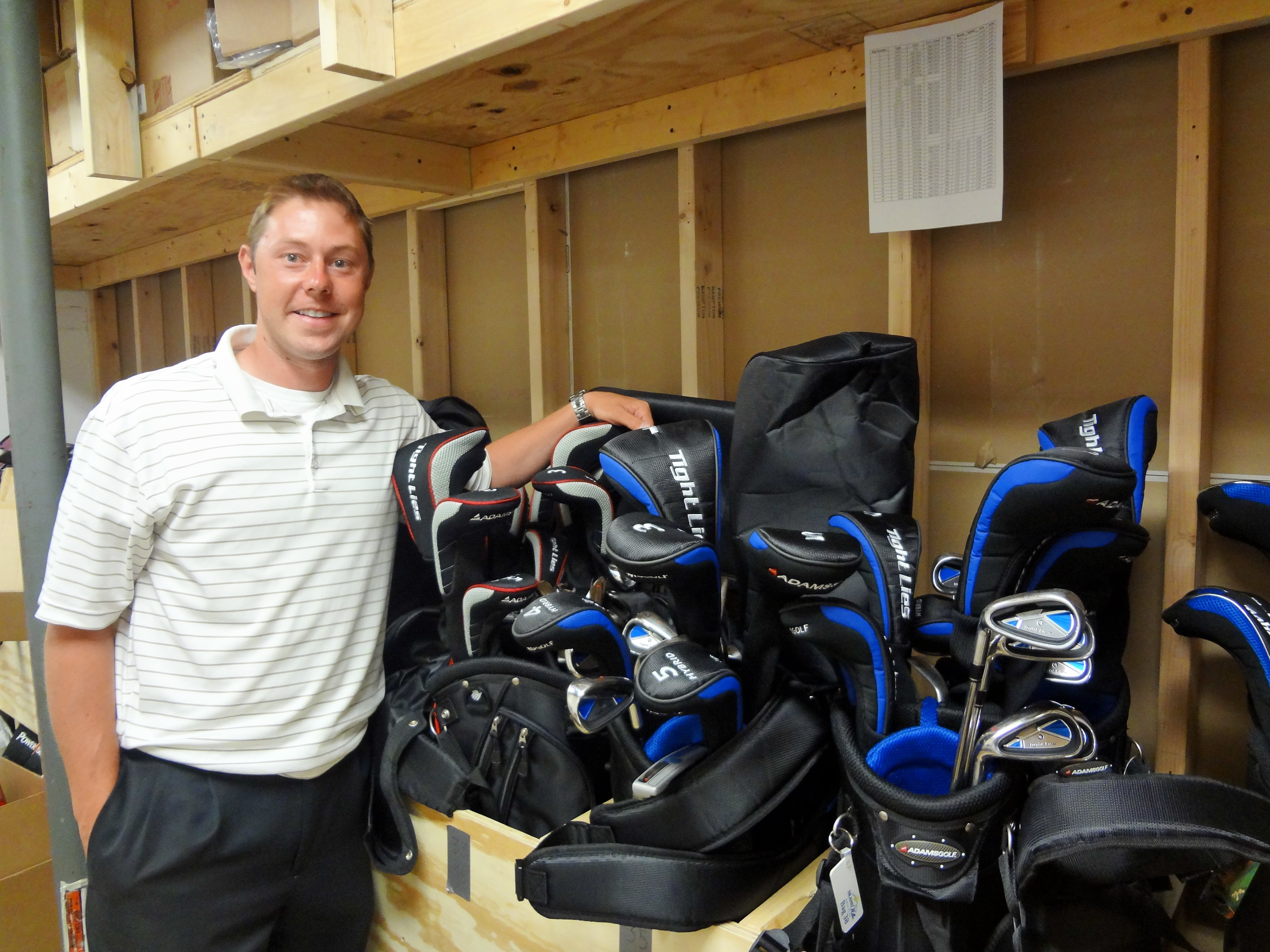 Island Hills' Tim Cole has the clubs to get new players started in golf.
