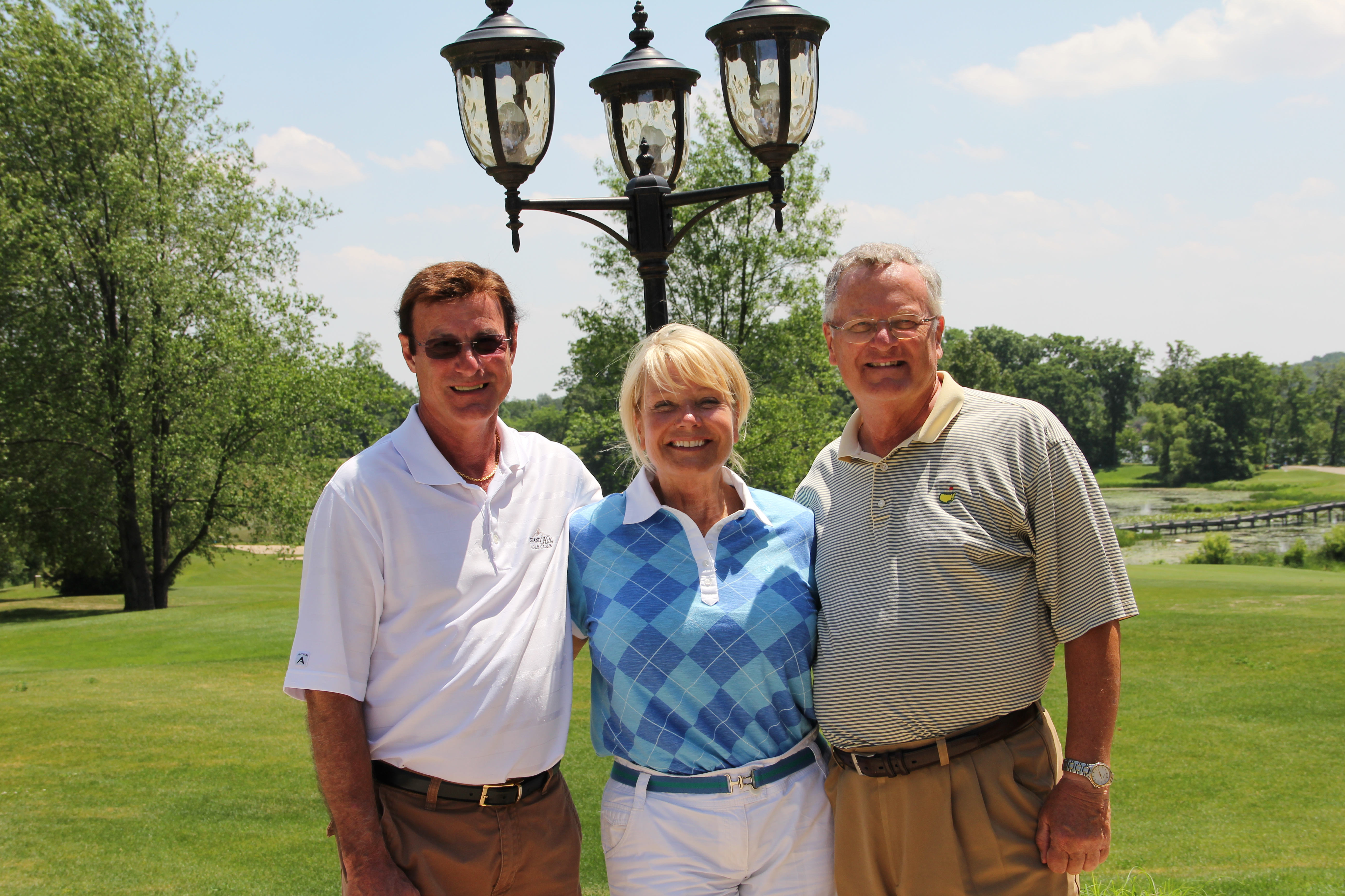 With Joy and Bob Griffioen, owner of Island Hills -- one of my favorite Michigan courses.