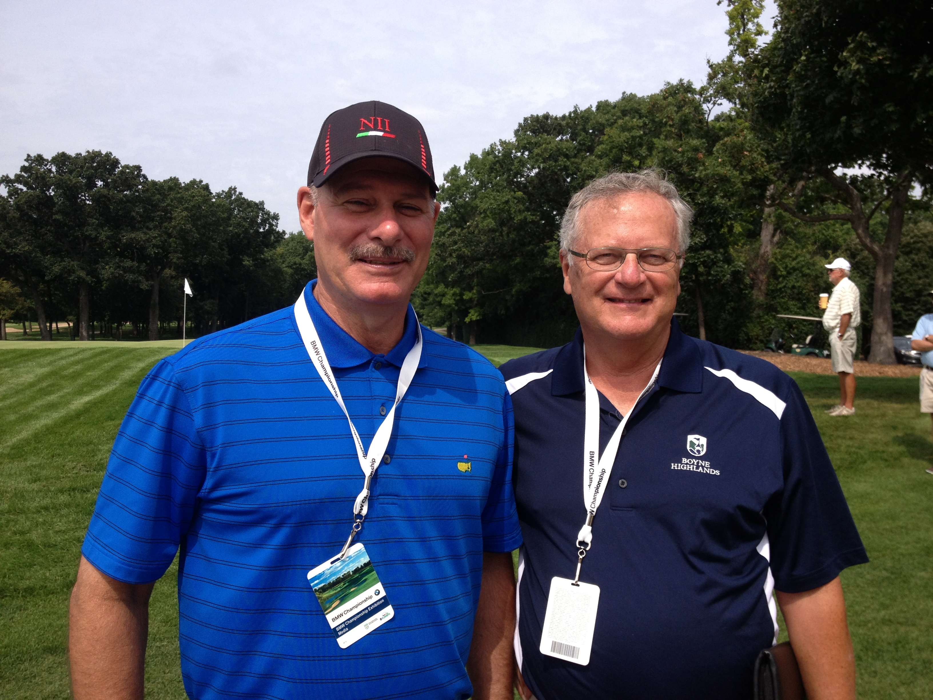 With Gary D'Amato, long-time golf writer for the Milwuakee Journal Sentinel and captain of Team Wisconsin the annual Writers Cup.